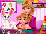 Игра Baby lessons with Anna Frozen
