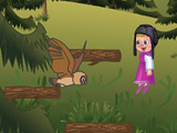 Play Masha and the Bear: Jumping on branches