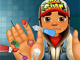 Игра Subway Surfers: Травма руки